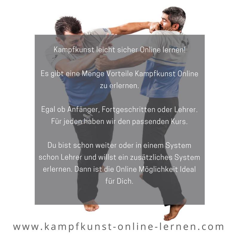 Kampfkunst leicht sicher Online lernen.
